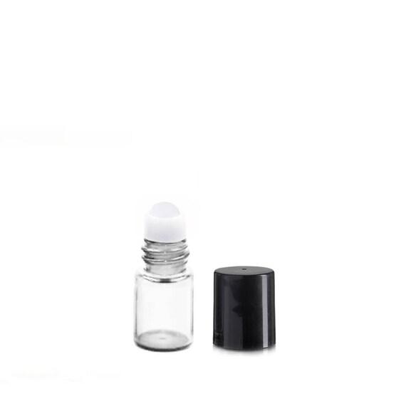 5 PINK CAP  Clear GLASS BOTTLES  Vials Clear 3 ml  Cute Little
