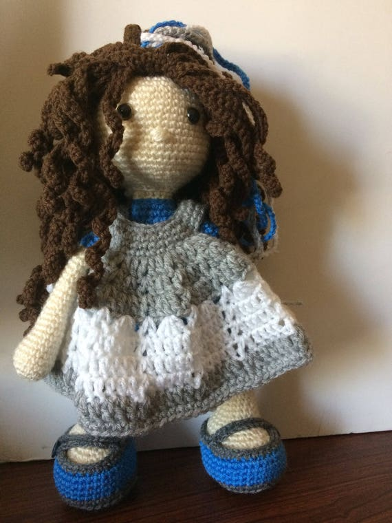 Crochet Amigurumi Bunny Doll With A Set Of 4 Dress, Sandals, Bow ... | 760x570