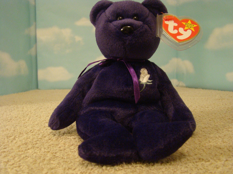 Princess Diana Beanie Baby Retired Mwmt 1997 Version 7 Sumo Ci
