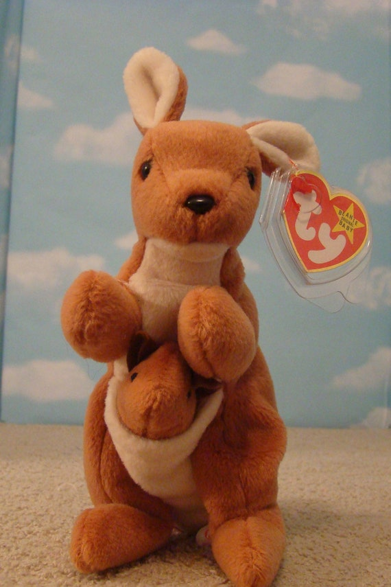 9e5b488b34d POUCH The KANGAROO Mother and JOEY Retired Beanie Baby