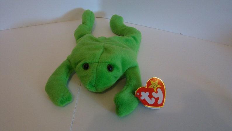 4e8f2cd4fcd LEGS Frog TY Beanie Baby