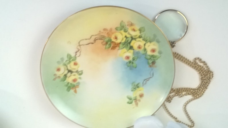 "Vintage PL Limoges France Hand Painted Gold Rim 6 1//2/"" Poppy Plates Beautiful"