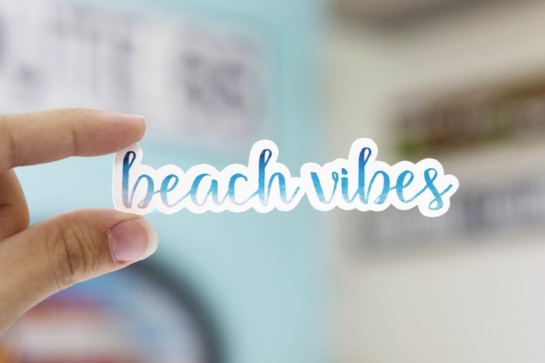 Beach Vibes Vinyl Sticker