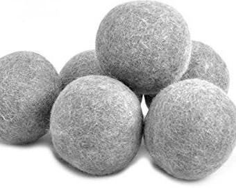 6 Laundry Wool Dryer Balls - Felted Dryer Balls - Handmade from 100% NZ wool *** Huge Savings ***
