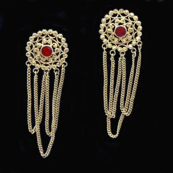 Antique Gold Earrings Twisted Gold Wire Granulatio
