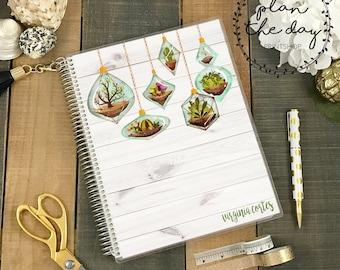 Terrarium Laminated Planner Cover for Erin Condren Life Planner, Plum Paper Planner, or Happy Planner
