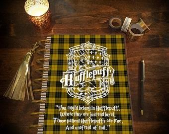 Hogwarts House Laminated Planner Cover for Erin Condren Life Planner, Plum Paper Planner, or Happy Planner