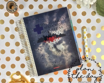 Grey's Anatomy Laminated Planner Cover for Erin Condren Life Planner, Plum Planner, Happy Planner, Personal Planner, or A5 Planner