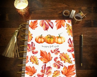 Happy Fall Y'all! Planner Cover for Erin Condren Life Planner, Plum Paper Planner, or Happy Planner