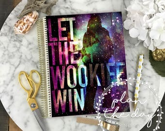 Wookiee Laminated Planner Cover for Erin Condren Life Planner, Plum Paper Planner, or Happy Planner