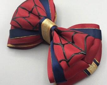 e6578c33003b Spider man hair bow | Etsy