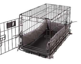 Dog Crate Bumper - Denim Grey - Single Door