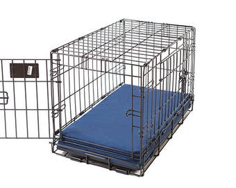 Sailor Blue Memory Foam Crate Crate Pads for Dogs with Waterproof Liner
