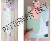 Crochet Pattern (English) Amigurumi Unicorn book buddy bookmark by Little Millamoo