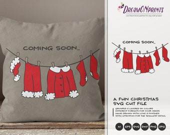 Fun Christmas SVG Files, Merry Christmas SVG, Santa Claus Svg, DXF Files for Cricut, Silhouette Cutting Machines DOP001