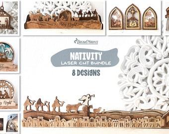 Nativity Laser Cut Designs   Christmas Laser Cut Bundle