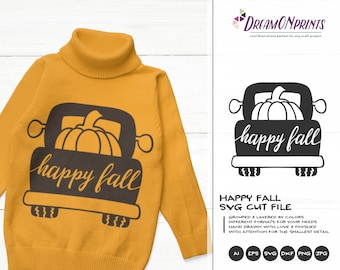 Happy Fall SVG Autumn | Farmer's Design
