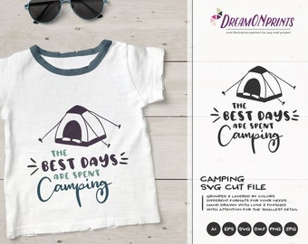 Camping Tent Svg | Camping SVG | Happy Camper SVG| Camper Svg Cut Files | SVG for Silhouette