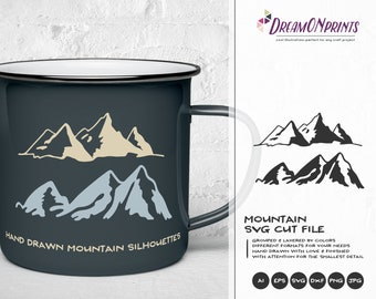 Mountain SVG Cut Files | Travel | Wanderlust SVG for Cricut | Camping | Nature svg