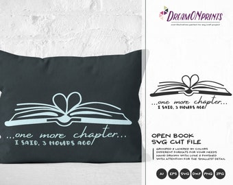 Books SVG | Just One More Chapter SVG | Book Lover | Librarian SVG