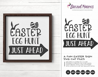 Easter egg Hunt Svg Easter Sign Svg SVG, Farm Sign Making Svg Funny Easter Svg, DXF for Silhouette, Svg for Cricut DOP255