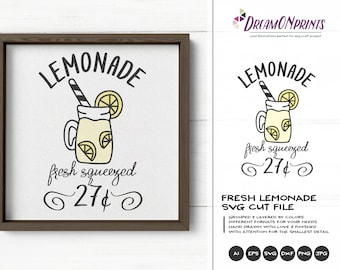Fresh Lemonade SVG Summer | Funny SVG Cut File