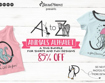 Animals Alphabet SVG | A Fun Monogram Bundle