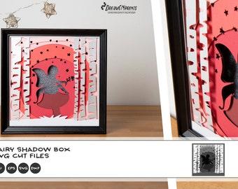 Fairy 3D Layered Design   Fairy Shadow Box   Diy Nursery Decor 3D SVG