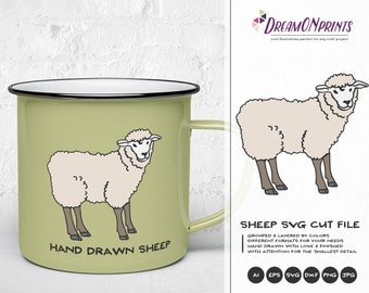 Sheep Svg Farm Animals Svg Cut File, Farm SVG, Farm House svg Sign Making Svg Files for Cutting and Printing DOP263