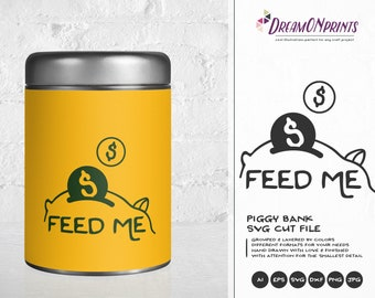 Piggy Bank SVG , Savings Svg, Funds Svg Money Svg Cut Files DOP118