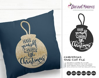 Merry Little Christmas SVG | Christmas SVG Cut Files