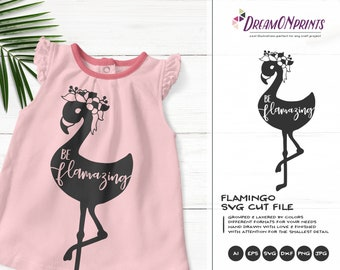 Be Flamazing SVG | Flamingo SVG Design