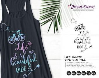 Bike Svg | Life is a Beautiful Ride |  Bicycle Svg Kids | Retro Bike Svg