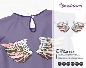 Angel wings SVG Fairy | Wings Cut Files | Angel Design