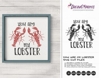 You Are My Lobster | Love SVG | Crawfish
