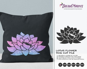 Lotus Flower SVG Cut File | Lotus SVG Vector