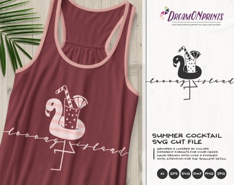 Flamingo SVG Long Island | Fun Party Design