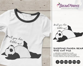 Panda SVG Panda Bear, Kids SVG, Animals Svg Cute Wild Svg Cut File, Nature Svg DXF Files for Cricut or Silhouette DOP372
