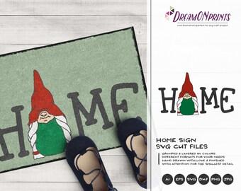 Fun Gnome SVG Sign | Gnome Cut Files | Christmas SVG Design