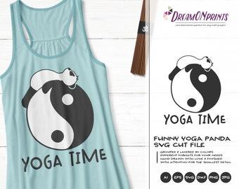 Funny Yoga Panda SVG | Panda Bear Svg | Cute Svg Cut File