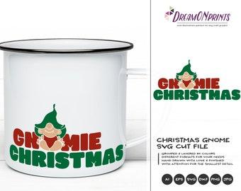 Funny Gnomie Christmas SVG | Christmas Gnome Design | Gnome  Cut Files
