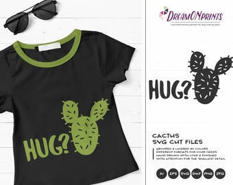 Cactus SVG, Hug SVG, Cacti svg, Cactus Quotes, Hugs svg, Kids svg Baby, Free Hugs DOP051