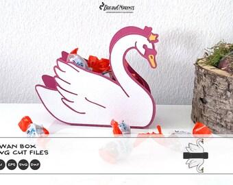 Swan Box SVG   DIY Valentine's Day Candy Box