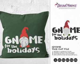 Funny Gnome SVG | Christmas Gnome Design | Gnome For Christmas Cut Files