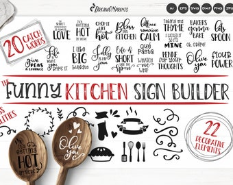 Kitchen SVG Bundle | Funny Kitchen Sign Builder