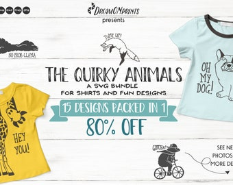 The Quirky Animals | Funny SVG Bundle for Shirts and Fun Designs