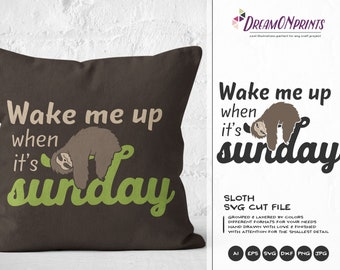 Sloth Mode SVG, Sunday Svg Sloth SVG, Animals SVG, Lazy Svg for Cricut Explore, Svg for Silhouette DOP025