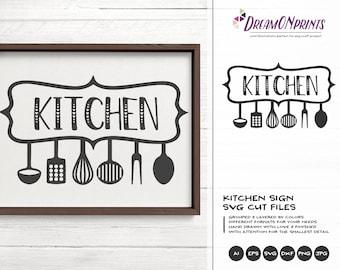Kitchen SVG, Kitchen Sign SVG, Apron Svg Designs, Sign Making Cooking svg Cricut Explore DOP216