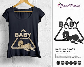 Baby on Board SVG, New Born SVG New Baby SVG, Pregnancy, Pregger, Baby Announcement Svg, Dxf Png Eps, Svg for Silhouette, Cricut Svg DOP170