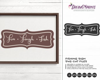 Fishing Svg, Sign Making SVG, Fish SVG, Lake svg Hunting, Boat Svg, Camping svg for Cricut, Silhouette Svg dxf png eps HTV svg DOP223